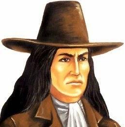 Imagen de Túpac Amaru II con su tradicional sombrero y cabello largo