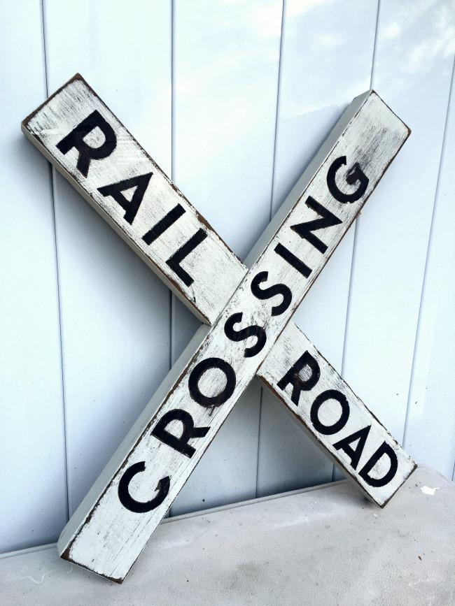 Make a DIY Railroad Sign From Scraps