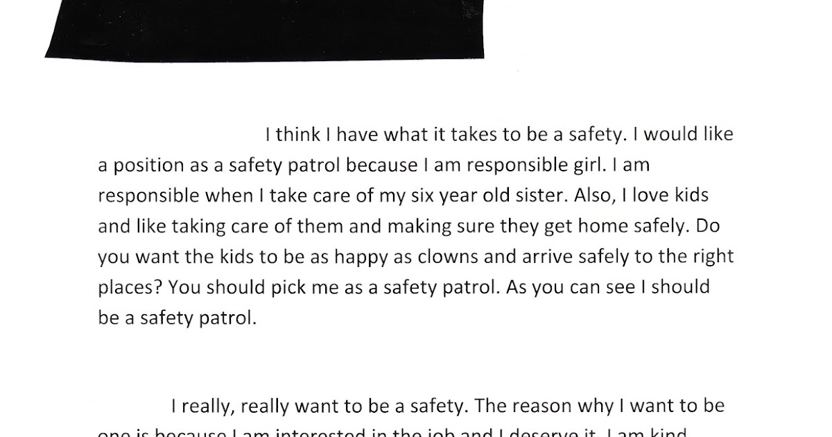 essay about safety patrol Safety patrol essay to write in writing an essay outline order of writing a research paper writing service in c# social characteristics safety patrol essay of students performance in nat is just as marcia does.