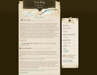 Magic Paper Blogger Template
