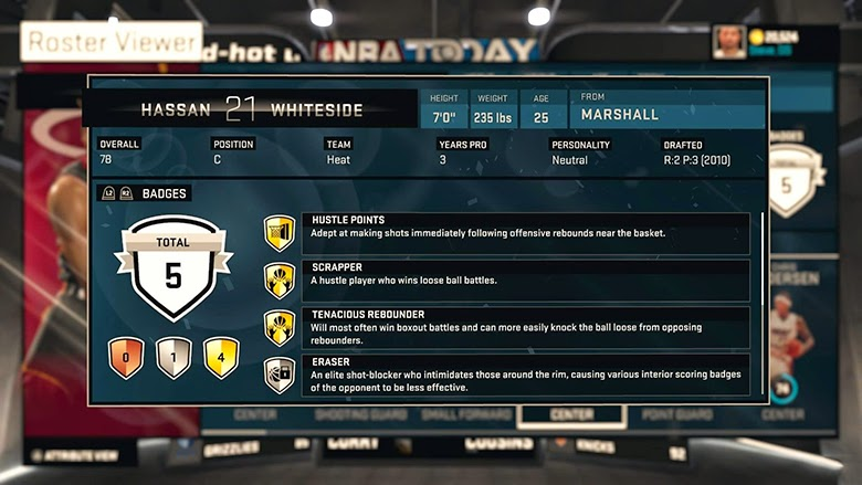 NBA 2K15 Update 02/03/15 - Reevaluated Player Badges