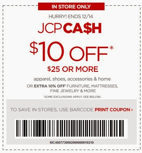 JCPenney Cash: Save $10 To $50 Off In Store Or Online