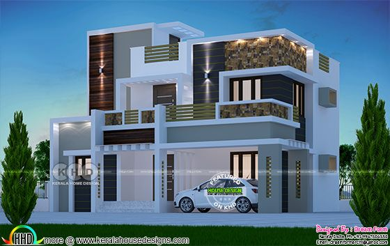 2074 square feet box type modern home