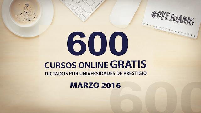 600 cursos universitarios gratis para marzo 2016