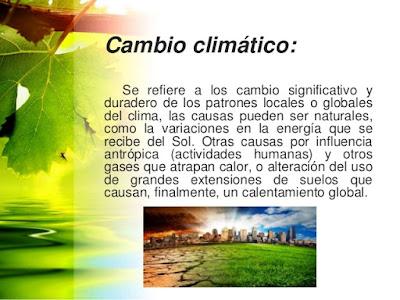 que es el Cambio Climático