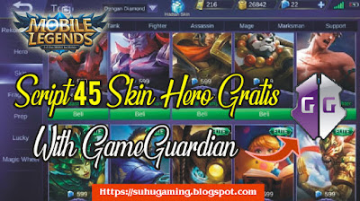 Download Script Dapat Skin Gratis Mobile Legends (45 Skin) Tanpa Diamond Patch Terbaru