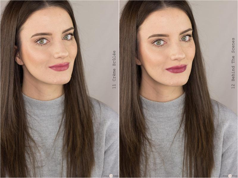 essence Colour Up! Shine On! Lipsticks 11 Crème Brûlée 12 Behind The Scences Swatches