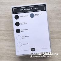 Jo's Stamping Spot - 2018 Colour Revamp Ink Refill Case Inserts - Basics