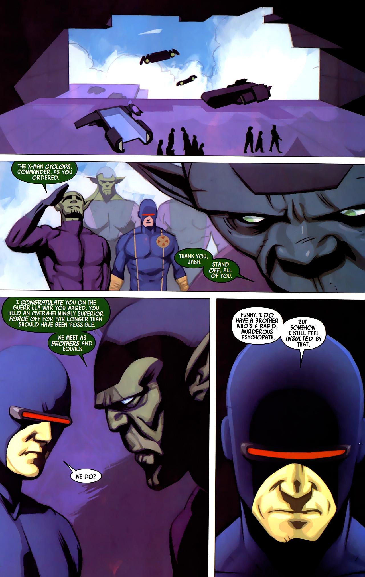 Read online Secret Invasion: X-Men comic -  Issue #4 - 14