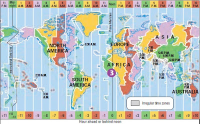 Time Zone Map 2017.English With Mariluz Time Zones