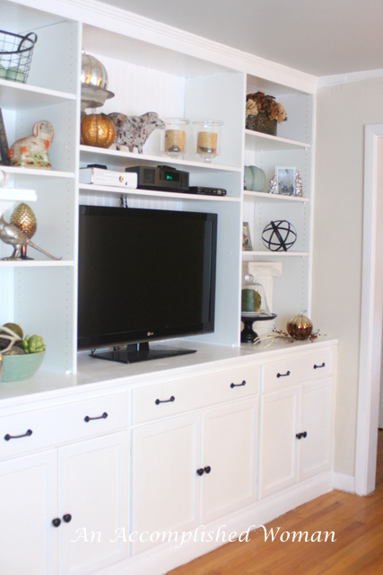 An Accomplished Woman: Living Room Built Ins
