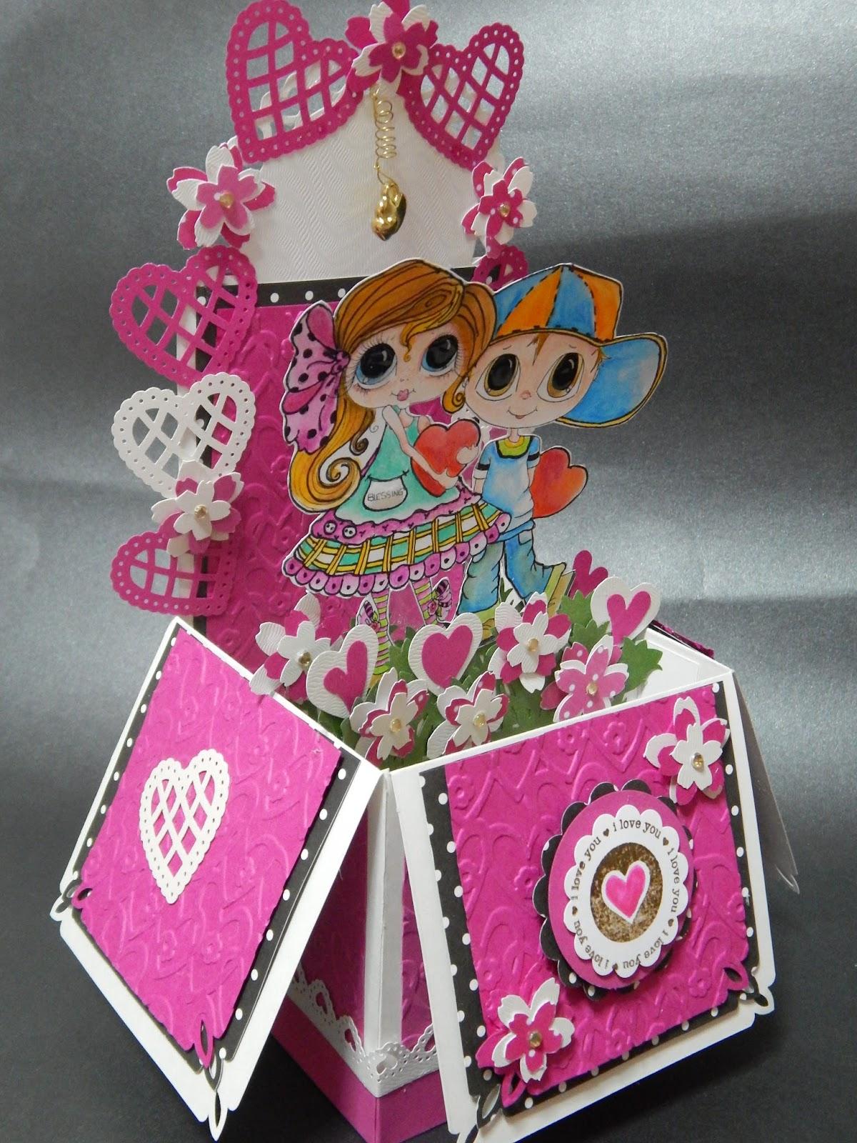 Arte con papel madera e hilos caja sorpresa san valentin - Sorpresas para san valentin originales ...