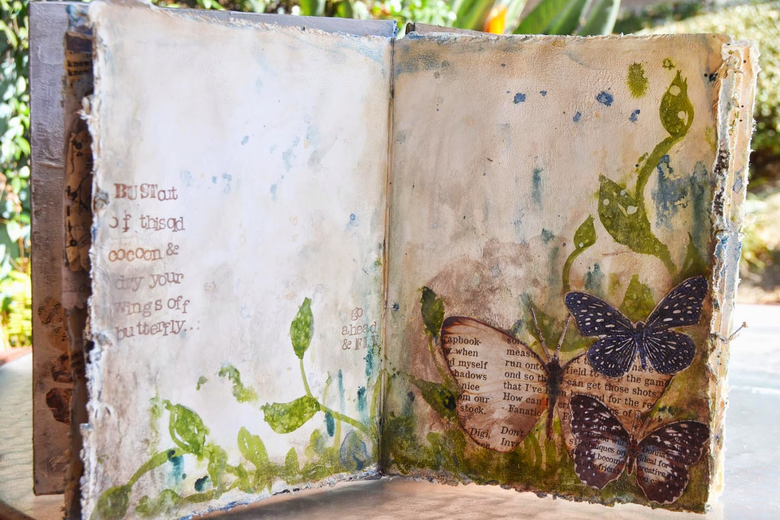 Donna S Art Journal Butterfly