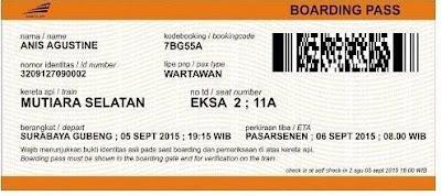 Tempat Cetak Kode Booking Tiket Kereta Api