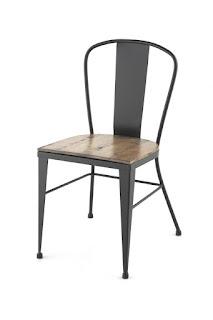 silla forja madera industrial