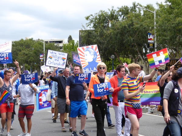 2016 LA Pride Parade Hillary for President supporters