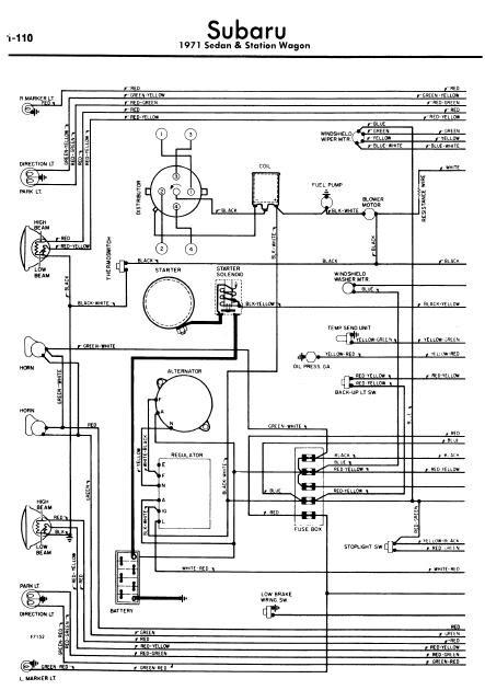 repair-manuals: Subaru Sedan & Station Wagon 1971 Wiring