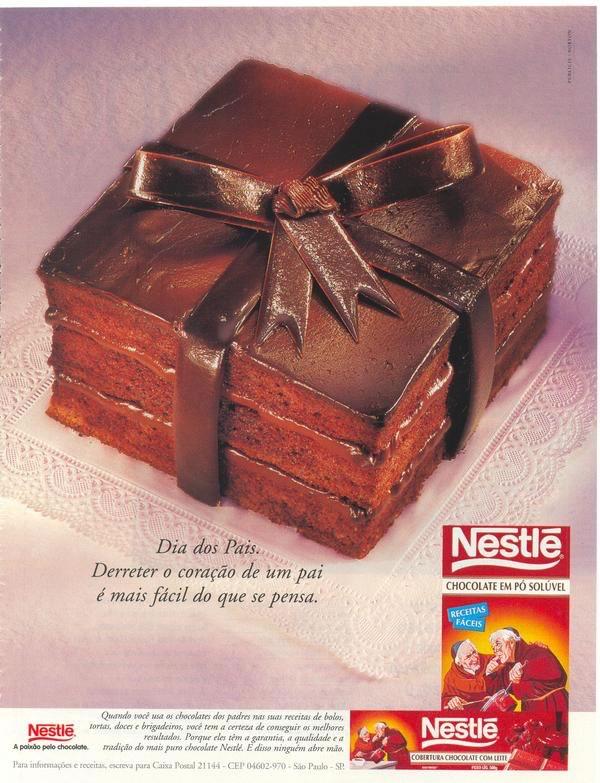 Propaganda do Chocolate em Pó da Nestlé em 1997 fazendo homenagem ao Dia dos Pais.