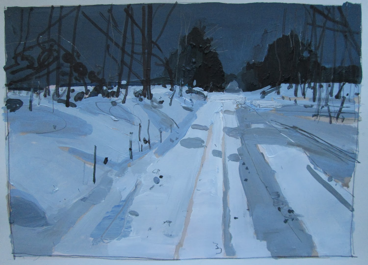 Landscape paintings harry stooshinoff cold spell - How cold is too cold to paint ...