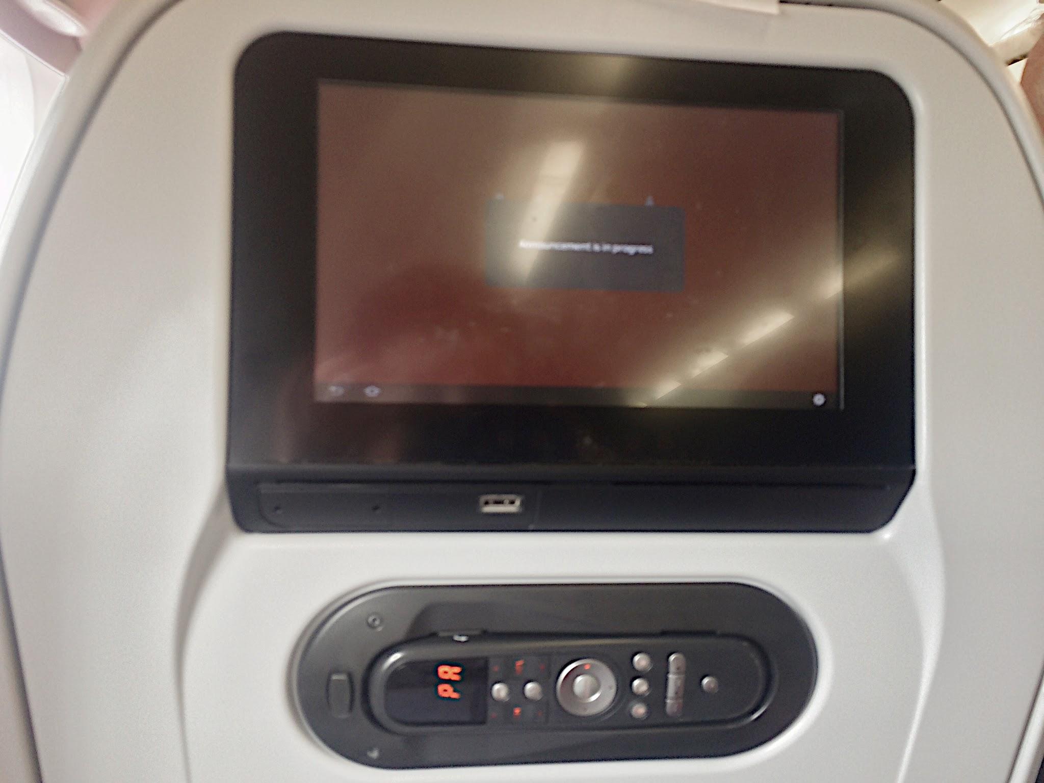 tela multimidia avião