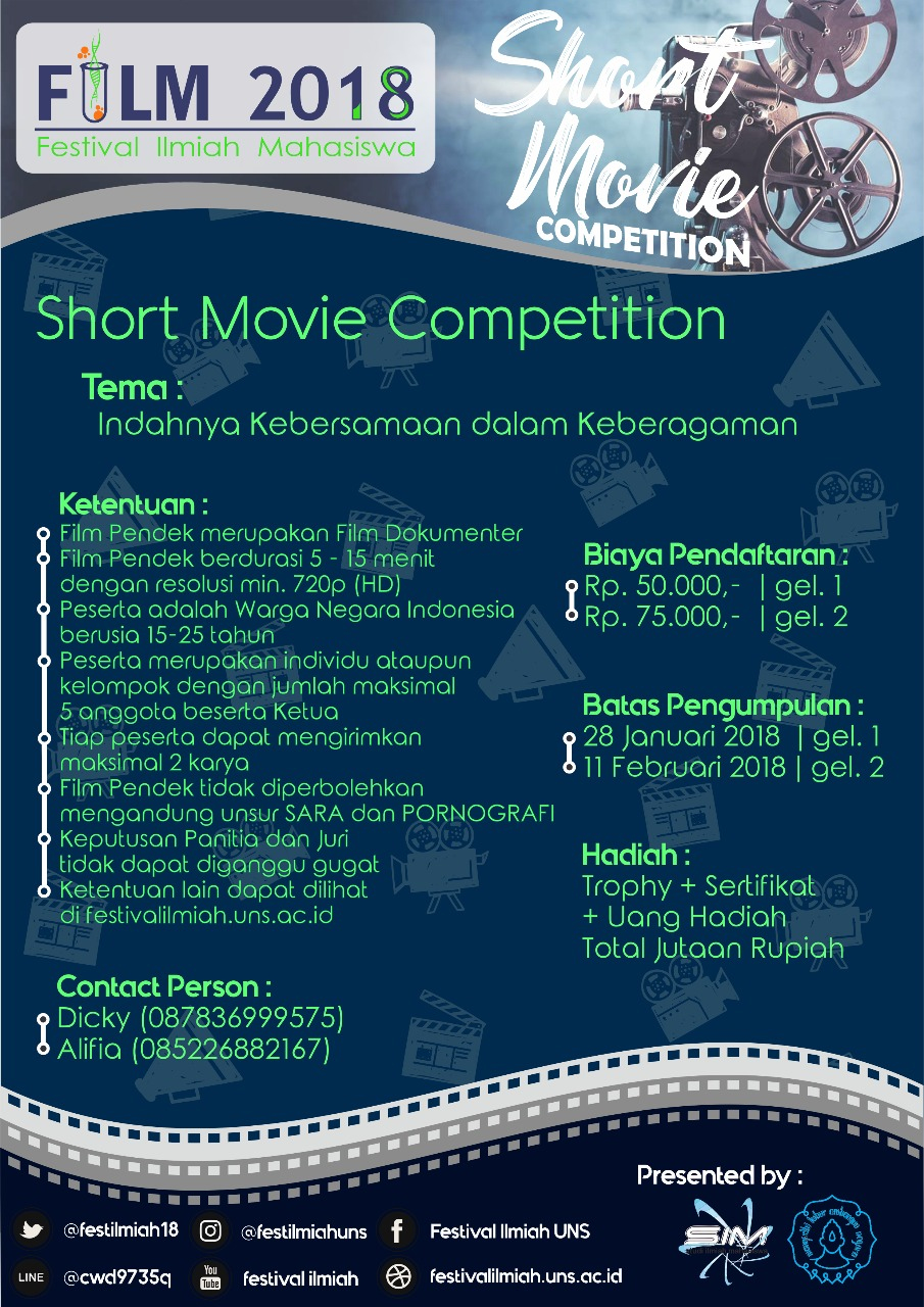 Lomba SEMAR Short Movie Competition 2018 Untuk Umum