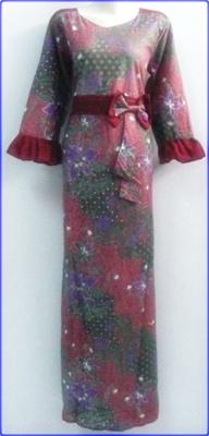 Model Baju Batik Kombinasi Polos Gamis Pesta Terbaru