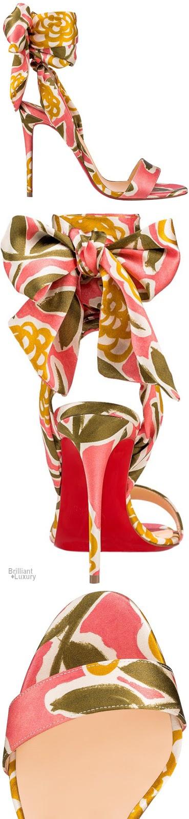 Brilliant Luxury♦Christian Louboutin Sandale Du Desert Satin Raoul Bow Pump