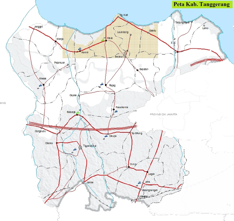 Peta Kabupaten Tanggerang HD