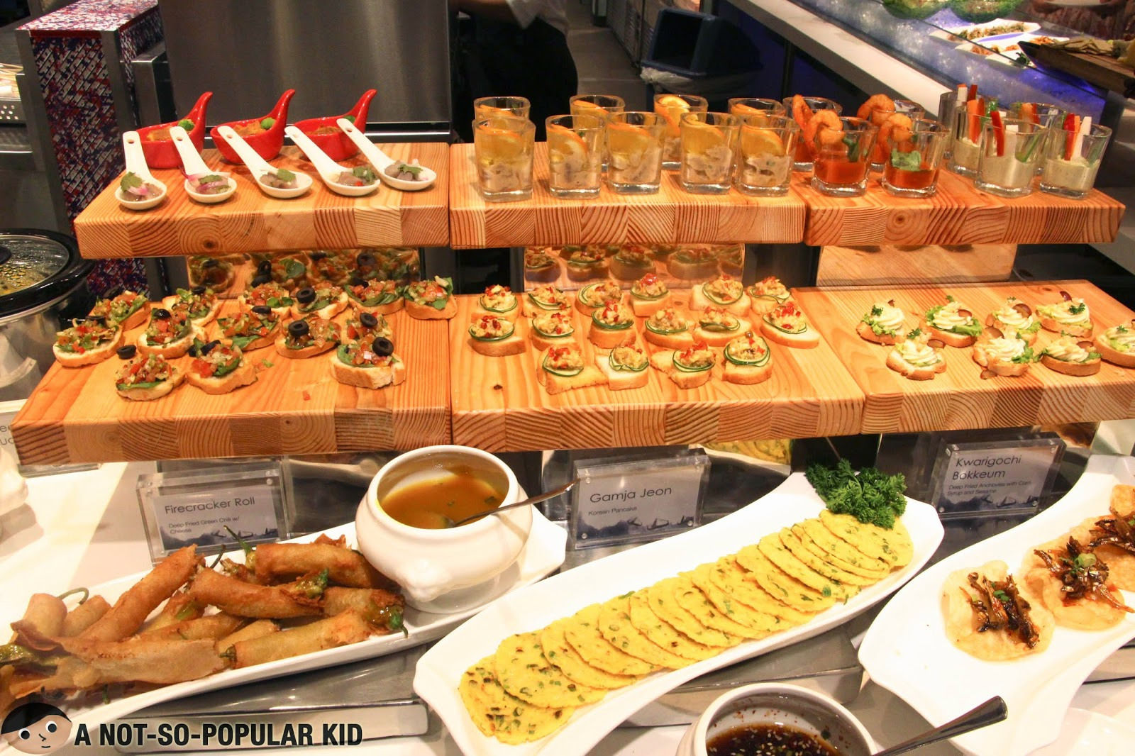 The collection of appetizers in Vikings Buffet