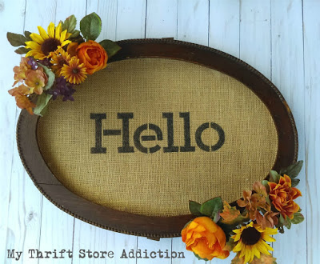 repurposed frame fall wreath