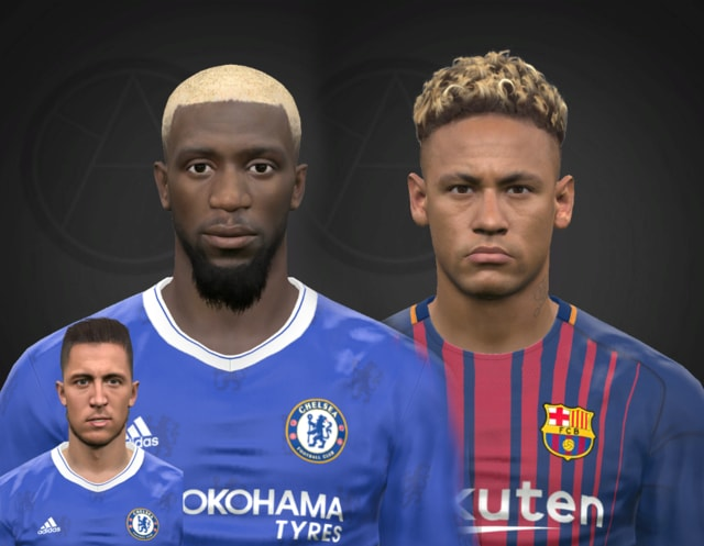T. Bakayoko and Neymar Jr. + Hazard PES 2017