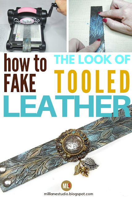 How to fake the look of tooled leather inspiration sheet