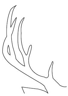 Endlessly erin diy deer painting instead of deer hunting for Reindeer tail template