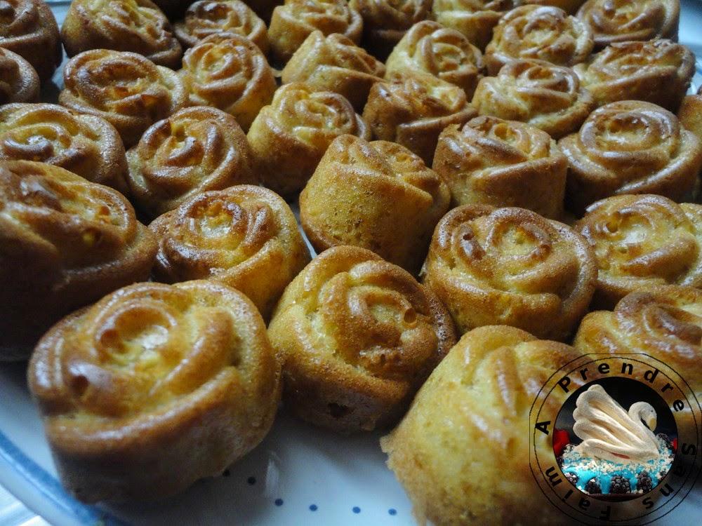Bouchées fleurs à la pomme et vanille
