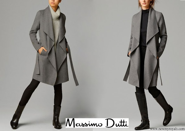 Crown Princess Mary wore MASSIMO DUTTI cashmere and wool blend coat