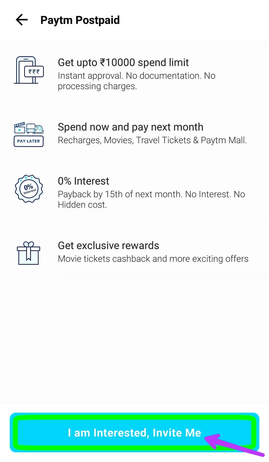 """Interest-free Personal Loan by PayTM """"BUY NOW, PAY LATER"""