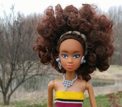 Кукла как барби Королева Африки племя Yoruba