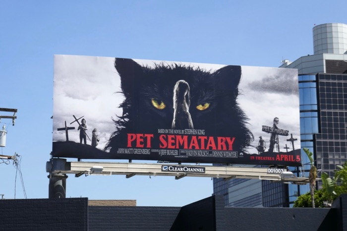 Pet Sematary 2019 remake billboard