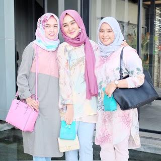 Baju Muslim Pastel Casual