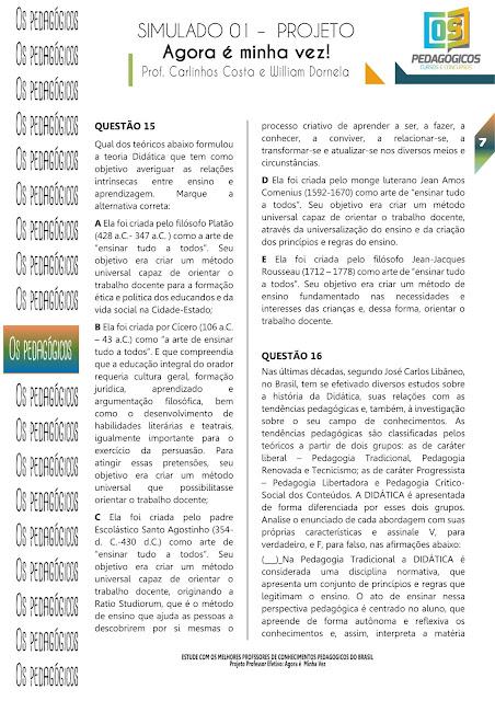 SIMULADO CONHECIMENTOS PEDAGÓGICOS PDF
