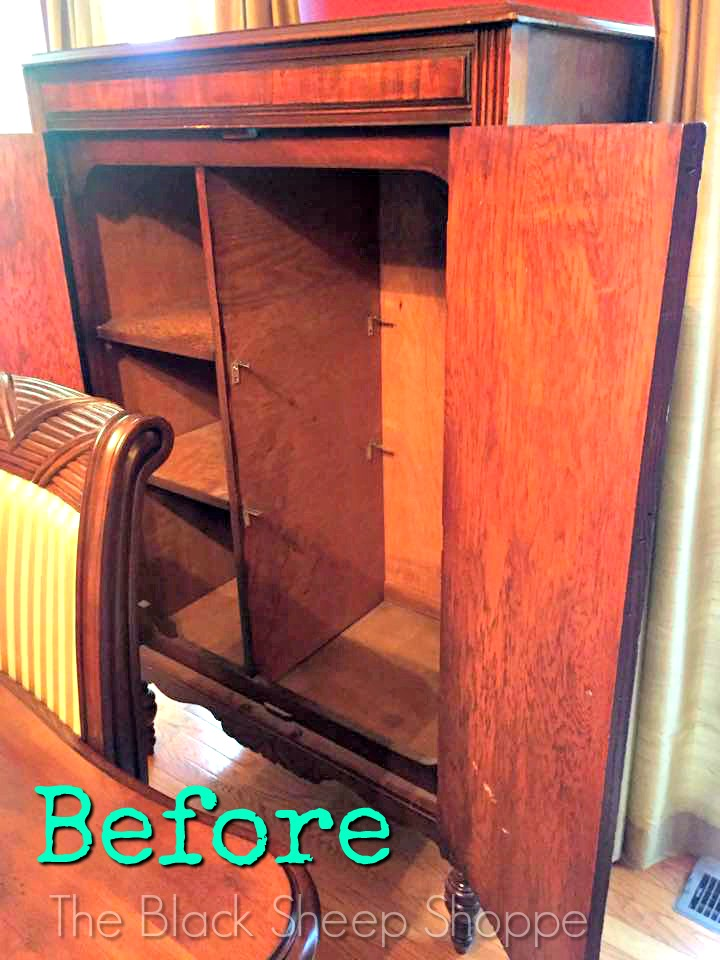 BEFORE interior of armoire