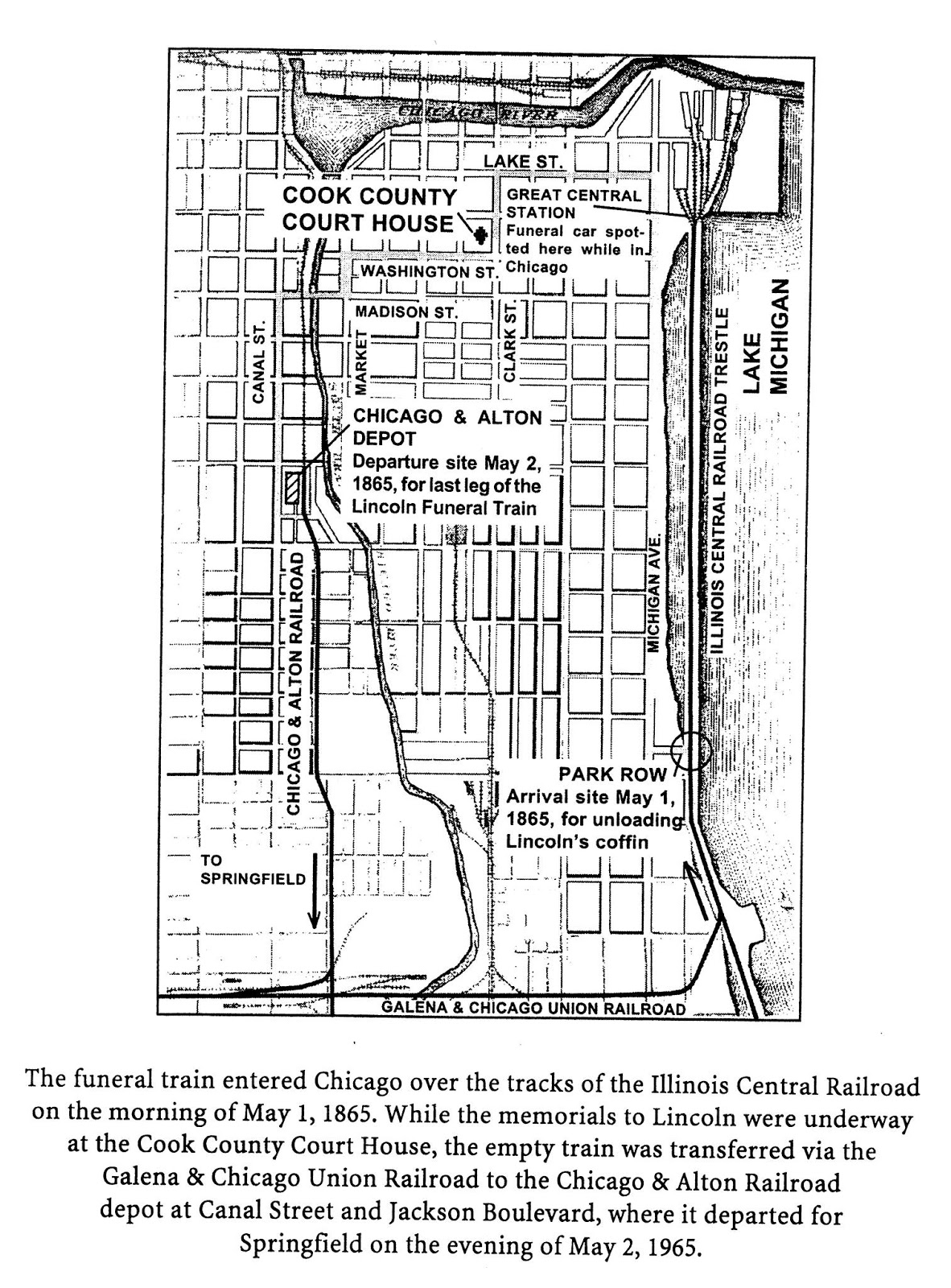 Industrial History Lincoln S Funeral Train Through Chicago