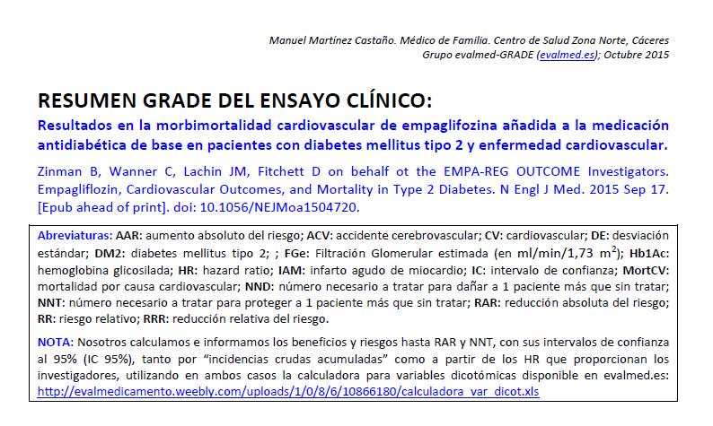 riesgo de enfermedad cardiovascular en diabetes mellitus tipo 2
