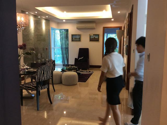 Phòng khách căn hộ 115 m2 - The Link Ciputra