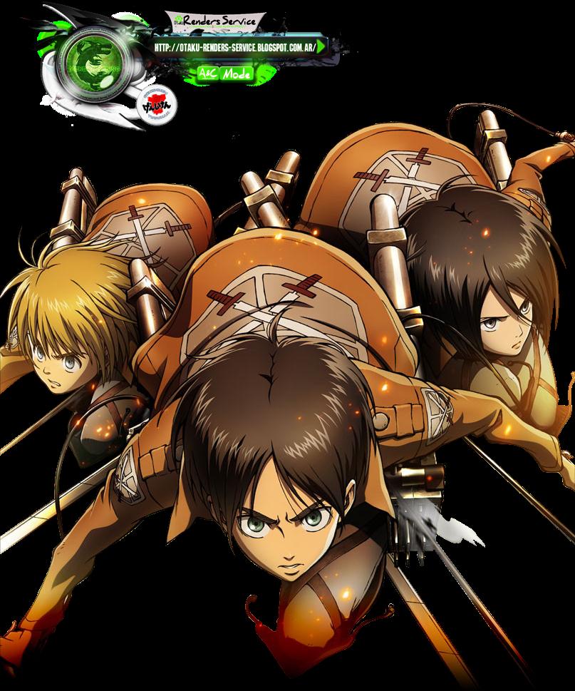 Attack of Titan:Eren+Mikasa+Armin Battle Render | ORS ...