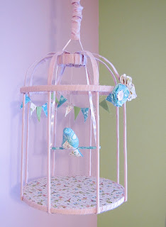 how to make a fabric covered bird cage