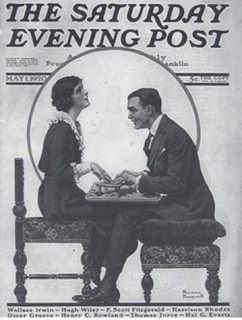 Saturday Evening Post. Fitzgerald on the cover