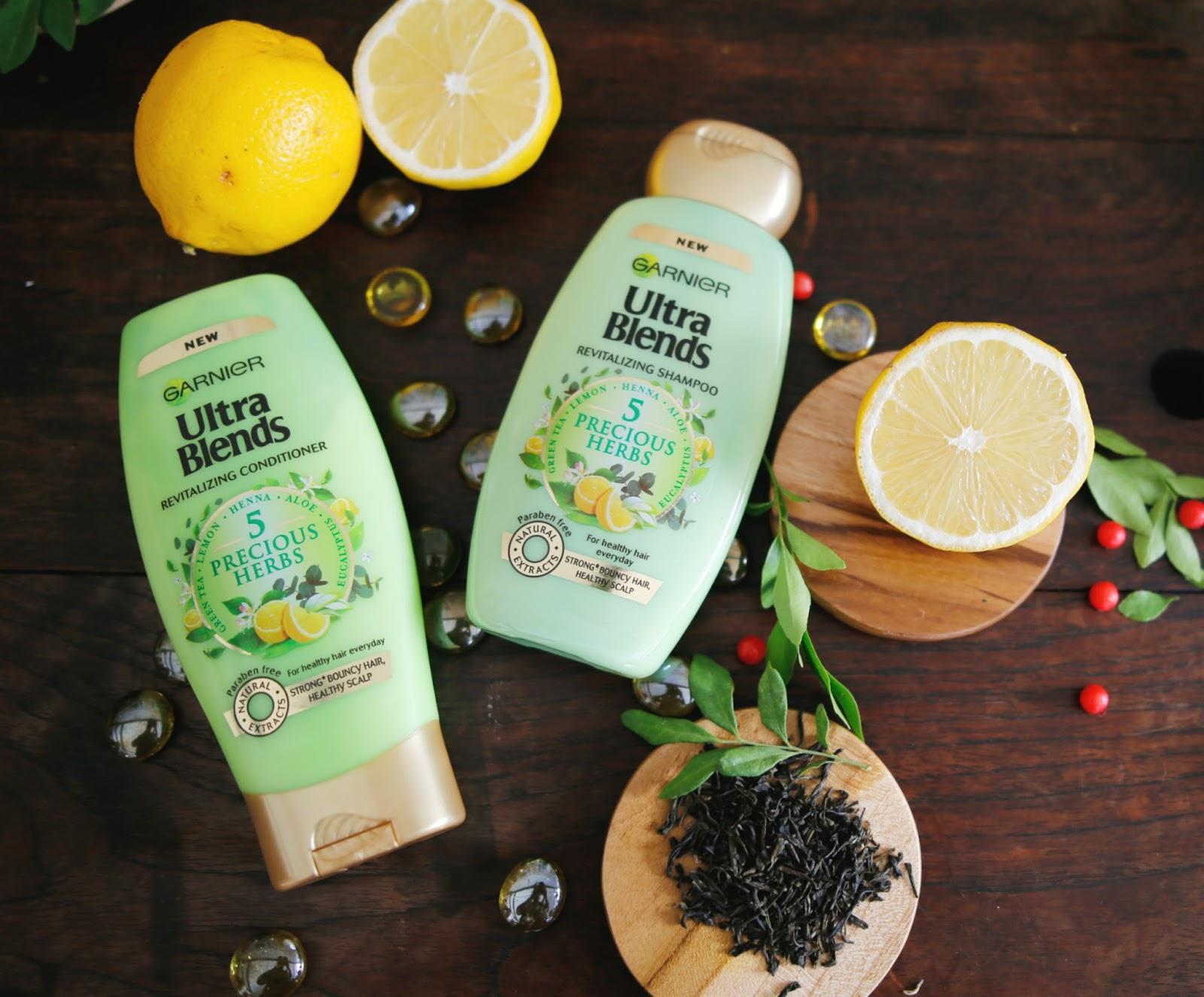 Garnier Ultra Blends 5 precious herbs Shampoo Review