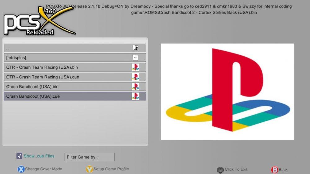 360 - PCSXr360 playstation emulator for jtag/rgh xbox 360