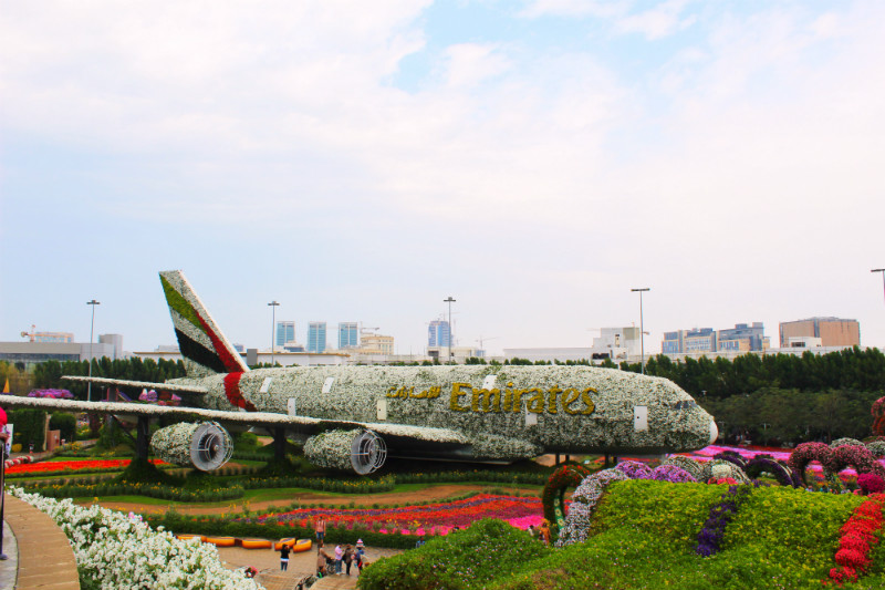 Emirates Plane in Dubai Miracle Garden